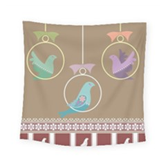Isolated Wallpaper Bird Sweet Fowl Square Tapestry (small)