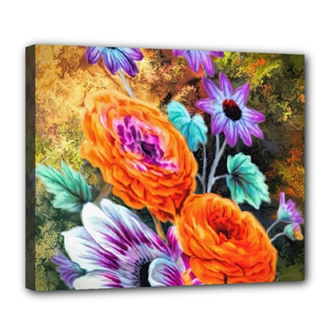 Flowers Artwork Art Digital Art Deluxe Canvas 24  X 20