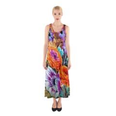 Flowers Artwork Art Digital Art Sleeveless Maxi Dress
