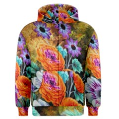 Flowers Artwork Art Digital Art Men s Zipper Hoodie