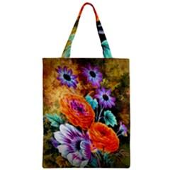 Flowers Artwork Art Digital Art Zipper Classic Tote Bag