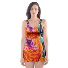 Flowers Artwork Art Digital Art Skater Dress Swimsuit