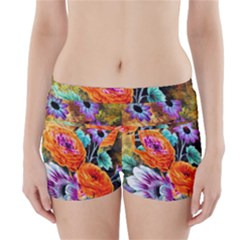 Flowers Artwork Art Digital Art Boyleg Bikini Wrap Bottoms