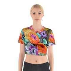 Flowers Artwork Art Digital Art Cotton Crop Top