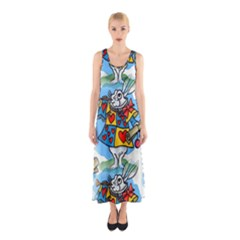 Seamless Repeating Tiling Tileable Sleeveless Maxi Dress