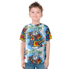 Seamless Repeating Tiling Tileable Kids  Cotton Tee
