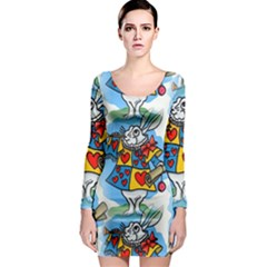 Seamless Repeating Tiling Tileable Long Sleeve Bodycon Dress