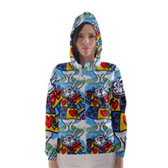 Seamless Repeating Tiling Tileable Hooded Wind Breaker (women)