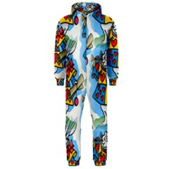 Seamless Repeating Tiling Tileable Hooded Jumpsuit (Men)