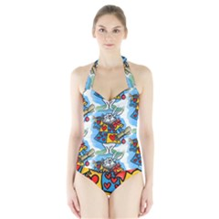 Seamless Repeating Tiling Tileable Halter Swimsuit
