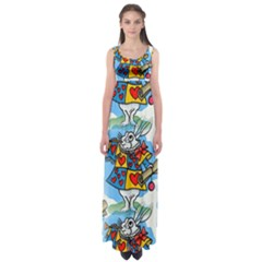 Seamless Repeating Tiling Tileable Empire Waist Maxi Dress