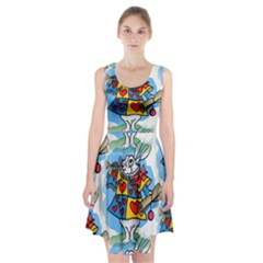 Seamless Repeating Tiling Tileable Racerback Midi Dress