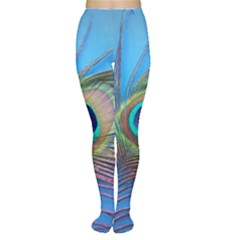 Peacock Feather Blue Green Bright Women s Tights
