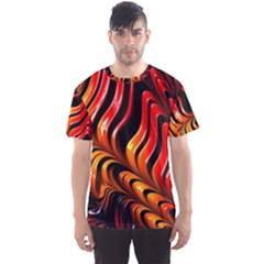 Abstract Fractal Mathematics Abstract Men s Sport Mesh Tee