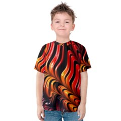 Abstract Fractal Mathematics Abstract Kids  Cotton Tee