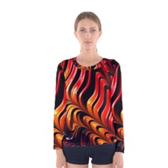 Abstract Fractal Mathematics Abstract Women s Long Sleeve Tee