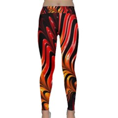 Abstract Fractal Mathematics Abstract Classic Yoga Leggings