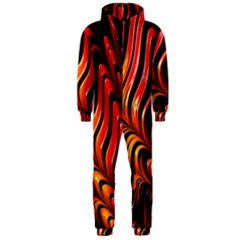 Abstract Fractal Mathematics Abstract Hooded Jumpsuit (men)