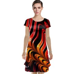 Abstract Fractal Mathematics Abstract Cap Sleeve Nightdress