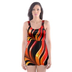 Abstract Fractal Mathematics Abstract Skater Dress Swimsuit