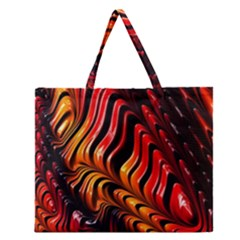 Abstract Fractal Mathematics Abstract Zipper Large Tote Bag