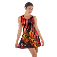 Abstract Fractal Mathematics Abstract Cotton Racerback Dress