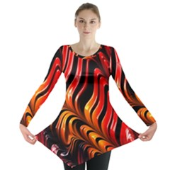 Abstract Fractal Mathematics Abstract Long Sleeve Tunic