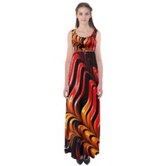 Abstract Fractal Mathematics Abstract Empire Waist Maxi Dress