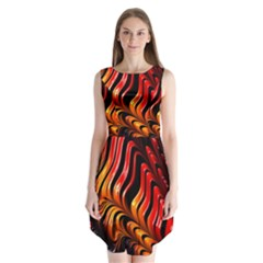 Abstract Fractal Mathematics Abstract Sleeveless Chiffon Dress