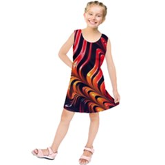 Abstract Fractal Mathematics Abstract Kids  Tunic Dress