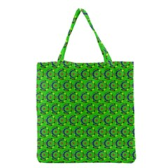 Abstract Art Circles Swirls Stars Grocery Tote Bag