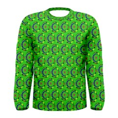 Abstract Art Circles Swirls Stars Men s Long Sleeve Tee