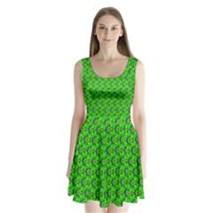 Abstract Art Circles Swirls Stars Split Back Mini Dress