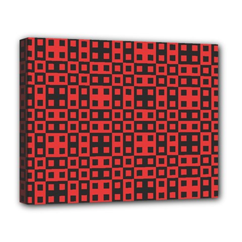 Abstract Background Red Black Deluxe Canvas 20  X 16