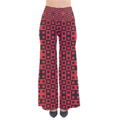 Abstract Background Red Black Pants