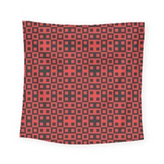 Abstract Background Red Black Square Tapestry (small)