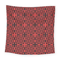 Abstract Background Red Black Square Tapestry (large)