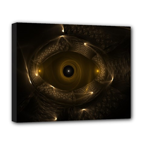Abstract Fractal Art Artwork Deluxe Canvas 20  X 16