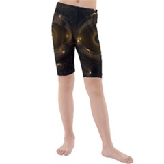Abstract Fractal Art Artwork Kids  Mid Length Swim Shorts