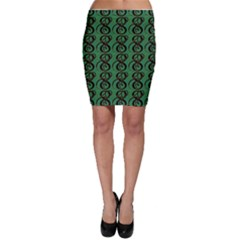 Abstract Pattern Graphic Lines Bodycon Skirt