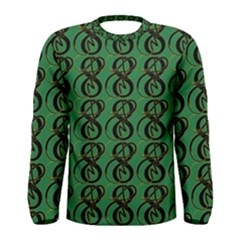 Abstract Pattern Graphic Lines Men s Long Sleeve Tee