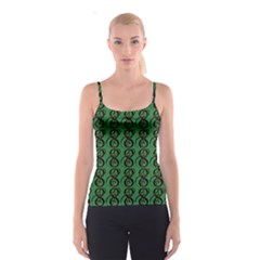 Abstract Pattern Graphic Lines Spaghetti Strap Top