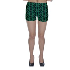 Abstract Pattern Graphic Lines Skinny Shorts