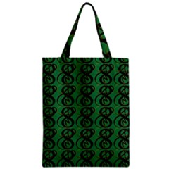 Abstract Pattern Graphic Lines Zipper Classic Tote Bag