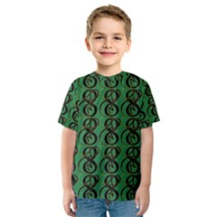 Abstract Pattern Graphic Lines Kids  Sport Mesh Tee