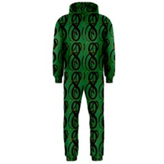 Abstract Pattern Graphic Lines Hooded Jumpsuit (Men)