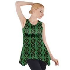 Abstract Pattern Graphic Lines Side Drop Tank Tunic