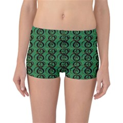 Abstract Pattern Graphic Lines Reversible Bikini Bottoms