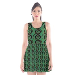 Abstract Pattern Graphic Lines Scoop Neck Skater Dress