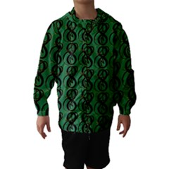 Abstract Pattern Graphic Lines Hooded Wind Breaker (kids)